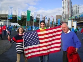 Marilyn with son and husband at the Olympics